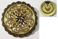 serre passe foulard bijou vintage déco filigranne relief couleur or * 4739