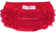 Ruffle Butts Red Satin Bloomer Diaper Cover Newborn 3m Baby Girls 1st Christmas