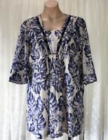 BLUE ILLUSION SIZE S COTTON TOP