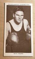 1938 WA & AC Churchman Boxing Personalities  #16 BEN FOORD (A)