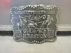 Hesston NATIONAL FINALS RODEO NFR Belt Buckles 1987 NEW IN PKG