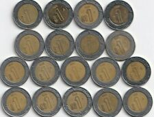 18 DIFFERENT BI-METAL 1 PESO COINS..MEXICO..CONSECUTIVE DATES of 1992 to 2009