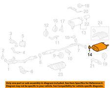TOYOTA OEM 13-17 Camry 3.5L-V6-Muffler 174400P041