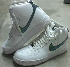"Nike Air Force 1 LV8 High - Iridescent / White ""Oil Slick"" - Men's US 8.5"