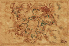 The Legend Of Zelda - Map Of Hyrule POSTER 61x91cm NEW