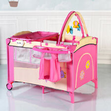 Pink Baby Infant Cot Bed Diaper Changer Music Box Toy Storage Bassinet Playpen