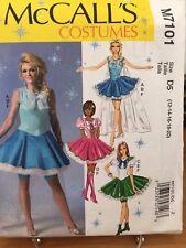 McCalls Costume Pattern M7101 - Frozen Skirt Elsa - 4 Views - Misses 12-20