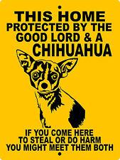 "Chihuahua Dog Sign, 9""x12"" Aluminum,Warning,Security ,Guard Dog Sign,Glchhcy"