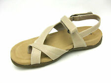 Studio Works Women's Kai Beige Comfort Toe Loop Sandals 6.5M
