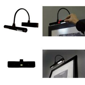 LED Picture Frame Light Cordless Battery Operated Artwork Display Lighting Black