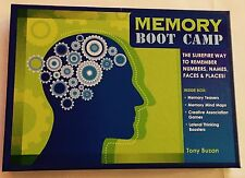 Brain Boot Camp Sharpen Your Memory in 7 Days by Tony Buzan (2008) Kit Game New