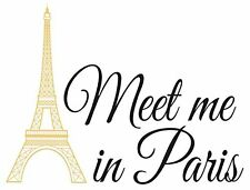 """Wall Pops WPQ1636 """"Meet Me In Paris"""" Wall Quote, New, Free Shipping"""