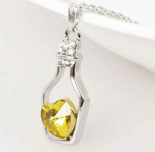 New fashion Hot Summer Women lady Heart crystal necklace jewelry :D