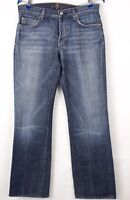 7 FOR ALL MANKIND Hommes Droit Jambe Slim Jean Taille W31 L32 BDZ101