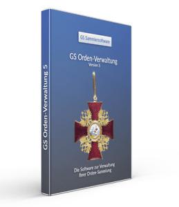 Orden-Verwaltung 5 - Die Software zur Verwaltung Ihrer Sammlung