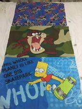 Pillow Cases Children's Cartoon Theme X 3 - Bart Simpson, Donald Duck