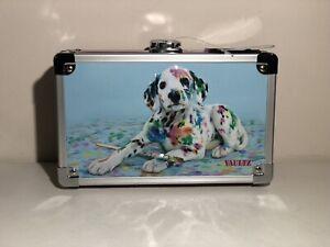 Pink Dalmatian Vaultz Embossed Locking Supply Box With 2 Keys Brand New w/ Tags