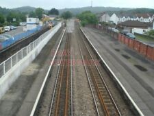 PHOTO  THE NEW TURNOUT AT CAERPHILLY FOR THE BAY PLATFORM HAS BEEN LAID.THE EXIS