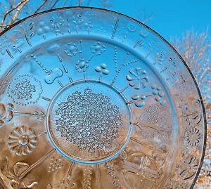 Mid Century Littallia Finland Flora Glass Drinks Bar Tray Platter Oiva Toikka