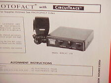 1972 PEARCE-SIMPSON CB RADIO SERVICE SHOP MANUAL MODEL BOBCAT 23B