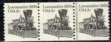 #1897A 1981 2-cent Locomotive plate# coil strip of 3