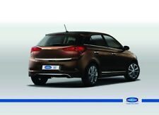 FIT Hyundai I20 i20 Rear Bumper Streamer Chrome Color Stainless Steel 2014-UP