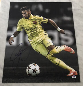 NEYMAR JR AUTO AUTOGRAPH SIGNED 16X20 PHOTO BRAZIL BARCELONA PSA/DNA COA