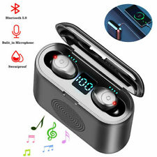 2 in 1 Bluetooth Headset Earphone Wireless Mini In-ear Earbuds+Bluetooth Speaker