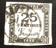 Taxe N° 5À 25 C Noir Oblitéré Type 2 TB Cote 100€
