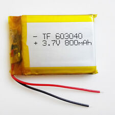 800mAh 3.7V Rechargeable LiPo ion Battery For mobile phone Tablet PC GPS 603040