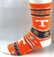 Tennessee Volunteers NCAA Ugly Christmas Sweater Crew Socks Orange White