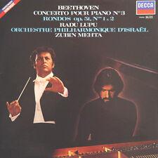 BEETHOVEN Concerto Pour Piano N° 3 R Lupu Z Mehta FR Press Decca 591 056 1981 LP