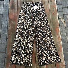 Zara Basic Circular Wide Leg Pants Kamuflage Stretch Size M