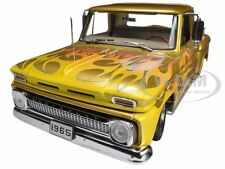 1965 CHEVROLET C-10 STEPSIDE PICKUP TRUCK LOWRIDER GOLD 1/18 BY SUNSTAR 1393