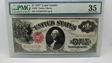1917 $1 Legal Tender PMG 35 - Fr#36 - United State Note Large Size Note