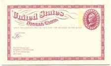 2203 USA 1973 6 C. lila 100 Jhr. USA Postkarten, selt. ungebr. Kab.-Privat-GA R!