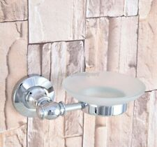Polished Chrome Soap Dish Holder Bathroom Accessory Wall Mounted yba787