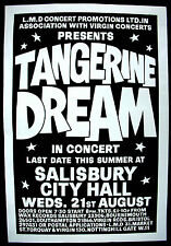 TANGERINE DREAM Salisbury City Hall 1974 UK ORG CONCERT POSTER Progressive MINTY