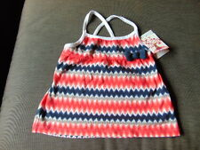 Savannah 100%Cotton Zig-Zag Sleeveless Strappy Top 2-3yr 98cm Multi BNWT