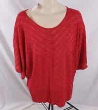 Fashion Bug Womens Shirt Red Red Stripe Sz 2X Career Dolman Sleeve CB67X NWT