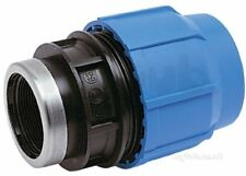 """50mm x 1"""" BSP female coupler for blue MDPE pipe. GF George Fischer Plasson"""