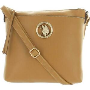 U.S. Polo Assn. Women's Faux Leather Adjustable Small Crossbody Handbag