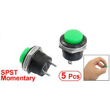 5x Momentary SPST NO Green Round Cap Push Button Switch AC 6A/125V 3A/250V LWUS