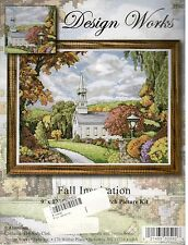 Fall Inspiration~Design Works Counted Cross Stitch Kit~Church~Trees~2592