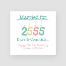 Personalised Handmade 8th Wedding Anniversary Card - Bronze, Eighth, Married