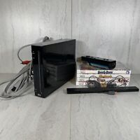 Nintendo Wii Console Black RVL-001 W/ Controller Wires And 4 Games Bundle