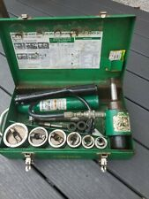 New Listinggreenlee 7506 Hydraulic Conduit 12 2 Knockout Hole Punch Set
