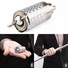 Appearing Cane Metal Silver Magic Close up Illusion Silk to Wand Tricks 110CM