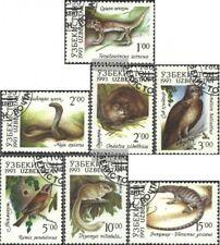 Usbekistan 7-13 (kompl.Ausg.) postfrisch 1993 Einheimische Fauna