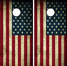 C190 Distressed Flag Cornhole Board Wrap LAMINATED Wraps Decals Vinyl Sticker